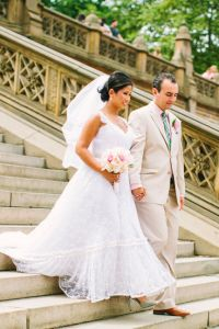 Summer Central Park Wedding Love In Pretty Pinks & Gorgeous Greens