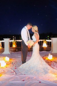 Romantic Lake Side Sunset Wedding In Pink & Gold With Vintage Touc...