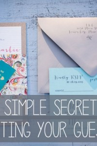 The Simple Secret To Creating Your Wedding Guest List