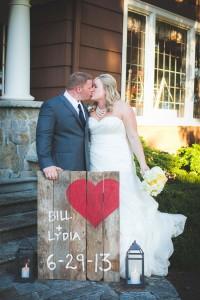 Classic Garden Wedding Chevron Dream In Yellow & Navy With DIY Touches