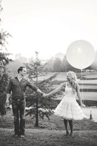Dreamy Atlanta Engagement Session From Giant Balloons To Air Stream Tr...