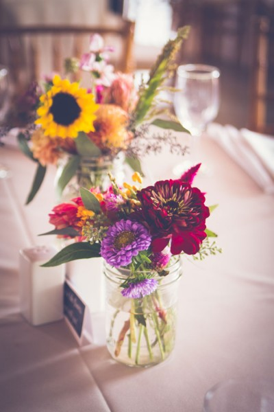 Dahlia Filled Audubon Center at Mill Grove Pennsylvania Wedding With Animal Surprises In Purple & Peach | Photograph by BG Productions  http://www.storyboardwedding.com/dahlia-audubon-center-mill-grove-pennsylvania-wedding/