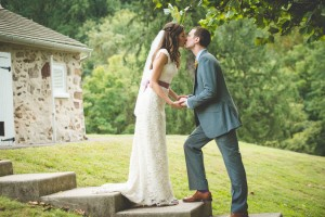 Dahlia Filled Audubon Center at Mill Grove Pennsylvania Wedding With Animal Surprises
