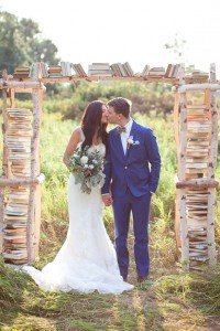 Why It Works Wednesday: Whimsical Birchwood Ceremony Arbor Filled With...