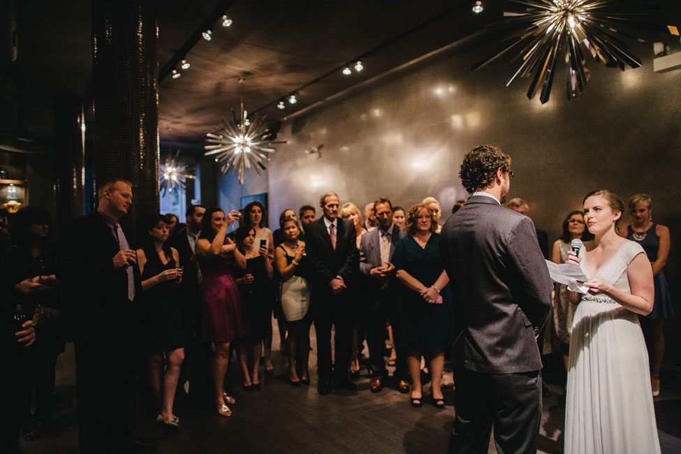 Intimate Modern Chicago West Loop Mimimalist Wedding At The Chic Sepia | Photograph by Spark + Tumble Photography  http://storyboardwedding.com/modern-chicago-west-loop-wedding-sepia/
