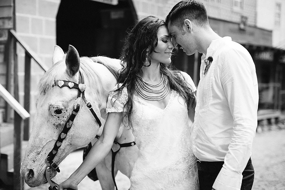 Southwestern Take On Frontier Lone Ranger Wedding   Photograph by Blest Photography