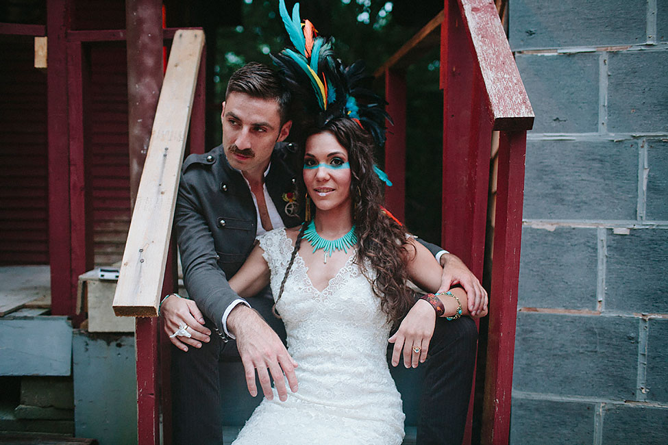 Southwestern Take On Frontier Lone Ranger Wedding | Photograph by Blest Photography