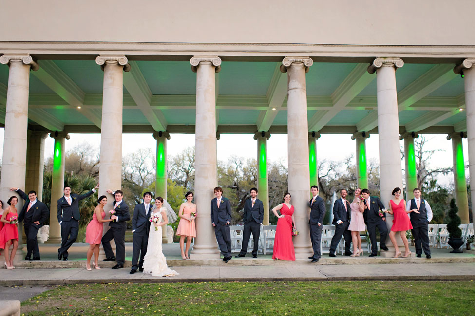 New Orleans City Park Modern Wedding In Mixed Pink Hues | Photograph by Pure Sugar Studios  http://storyboardwedding.com/new-orleans-city-park-modern-wedding-pink-hues/