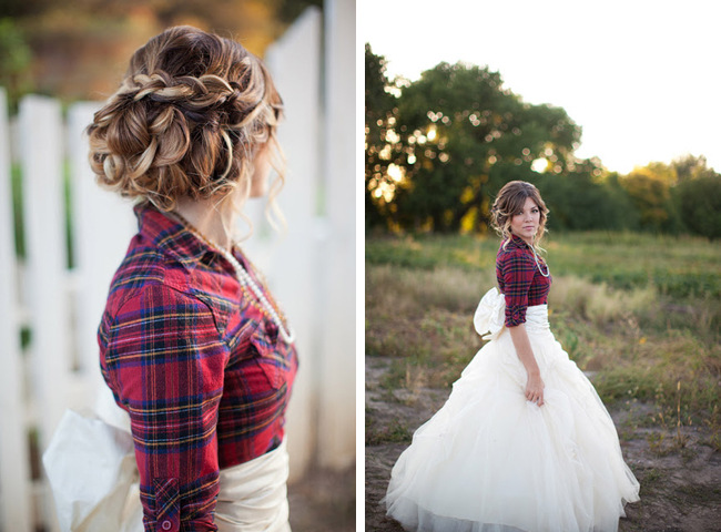 Plaid Flannel Bride Ciara Richardson Photography Hair and Make-Up by Steph