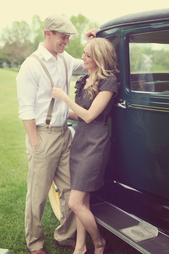 Vintage Notebook Inspired Travel Infused Engagement Session | Photograph by Ashlee Layne Photography  http://www.storyboardwedding.com/vintage-travel-inspired-engagement-session-1940s-the-notebook/