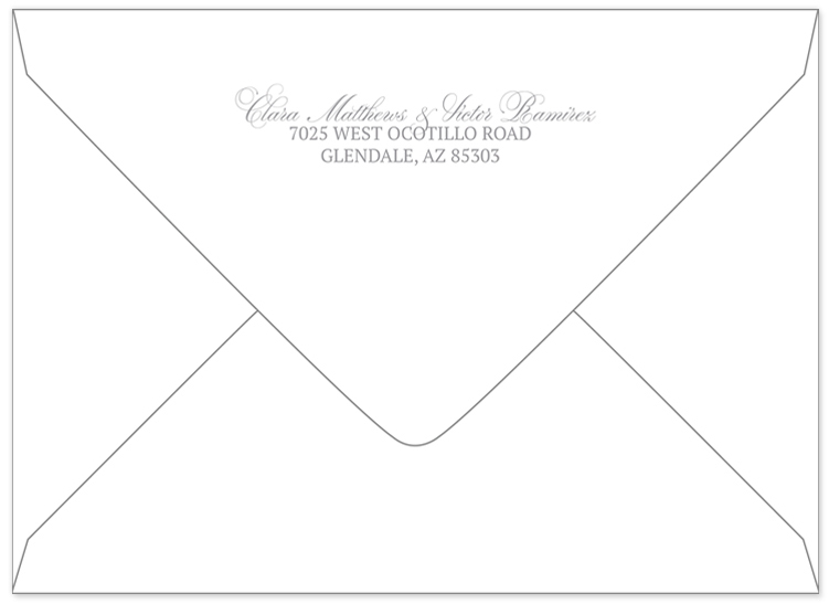 A Better Way To Do Return Addresses On Wedding Invitations U0026#038; Sycamore  Street
