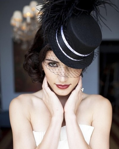 Black Veil With Top Hat