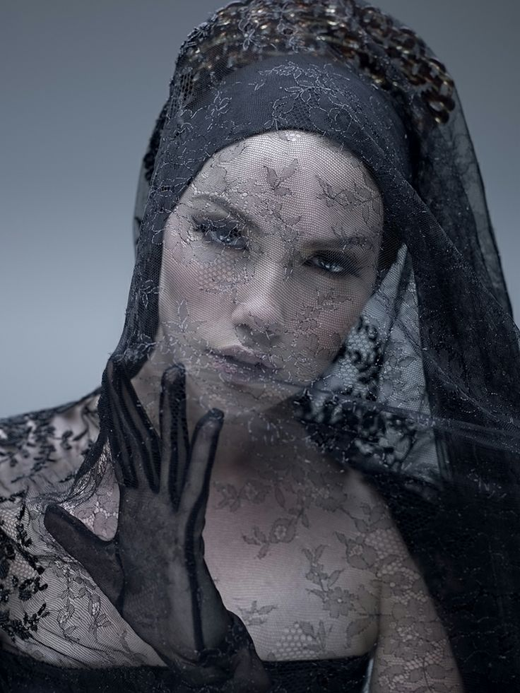 Couture Black Lace Veil