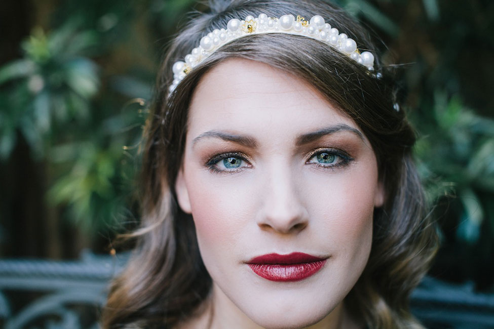 Chic Offbeat Bride In Tones Of Black, Ivory, Gold & Burgundy | Photograph by Mackensey Alexander Photography  https://storyboardwedding.com/chic-offbeat-bride-black-ivory-gold-burgundy/