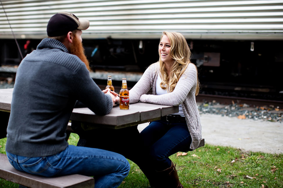 Muscle Cars & Vintage Gas Stations In This Brawny Engagement Session | Photograph by JaNikki   https://storyboardwedding.com/muscle-cars-vintage-gas-stations-brawny-engagement-session/