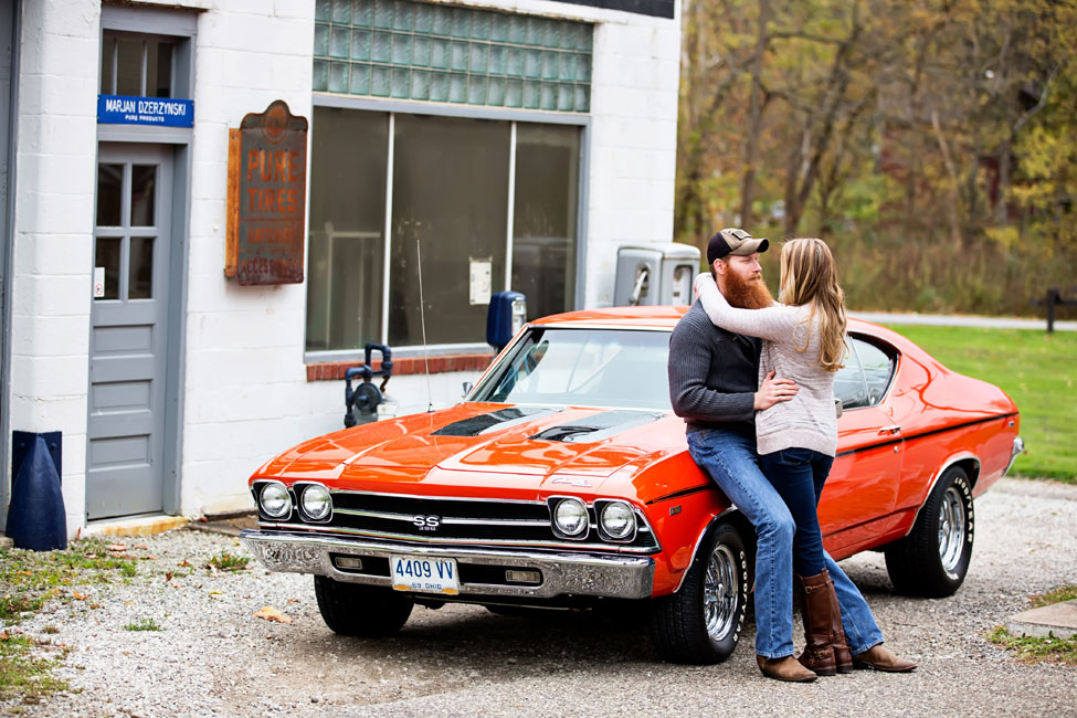 Muscle Cars Vintage Gas Stations Brawny Engagement Session