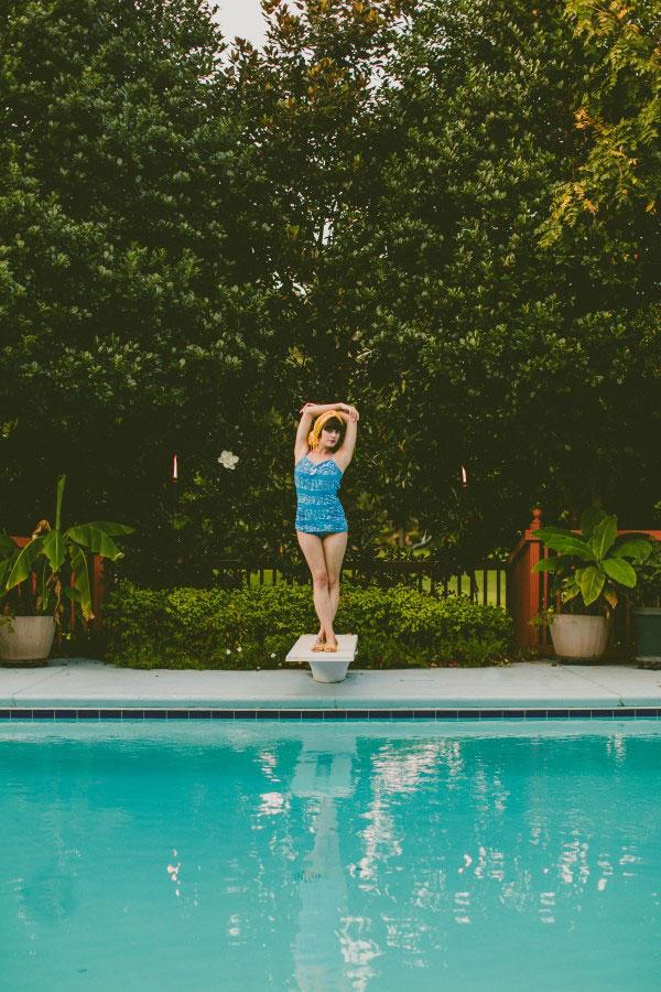 Flirty Retro Swimwear Honeymoon Inspiration From Boho To Mod | Photograph by Carolyn Scott Photography  http://storyboardwedding.com/flirty-retro-swimwear-honeymoon-inspiration/