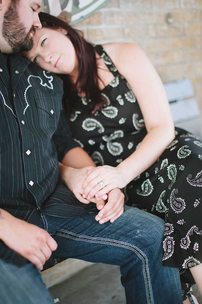 Pink Cadillac Engagement Session With Edgy Retro Flair From Old Gas Stations To Classic Car Graveyards   Photograph by Tracy Enoch Photography  https://storyboardwedding.com/vintage-retro-pink-cadillac-engagement-session/