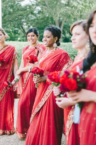 Inter-Faith Wedding In Vibrant Red & Glittering Gold On The Lawn Of The Jefferson Memorial |  Photograph by Fogarty Photography  http://storyboardwedding.com/inter-faith-wedding-red-gold-jefferson-memorial/