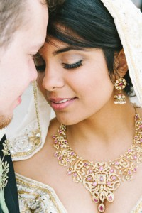 Inter-Faith Wedding In Vibrant Red & Glittering Gold On The Lawn O...