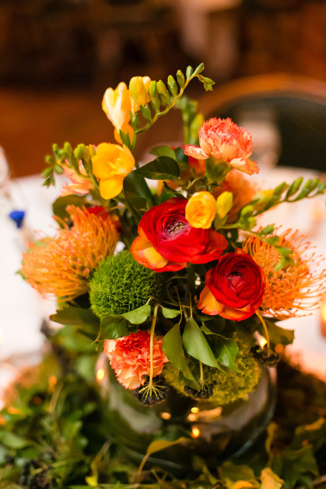 Winter wedding colors fire red orange green winter wedding colors in hues of reddish orange yellow green create a fireside mightylinksfo