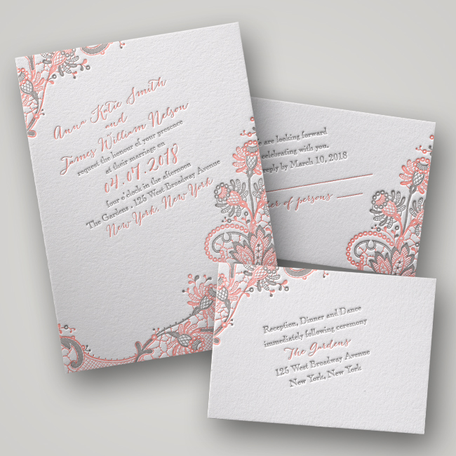 Invitations by Dawn Love and Lace Letterpress Wedding Invitations