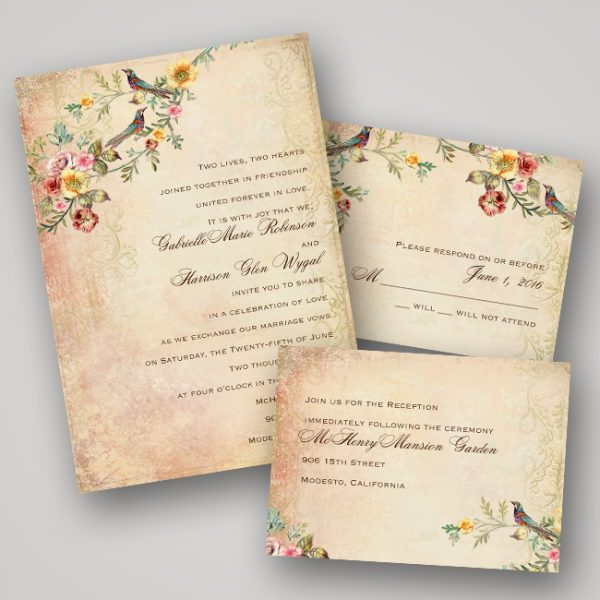 Invitations by Dawn Vintage Wedding Invitations