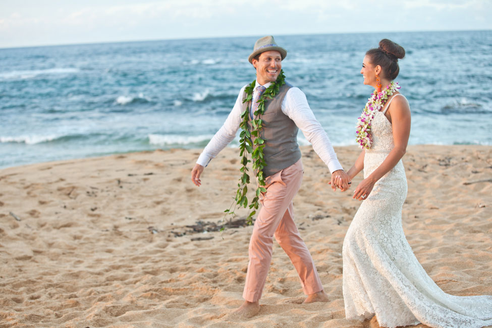 technicolor tropical destination wedding in wainiha bay kauai hawaii photograph by martina micko http