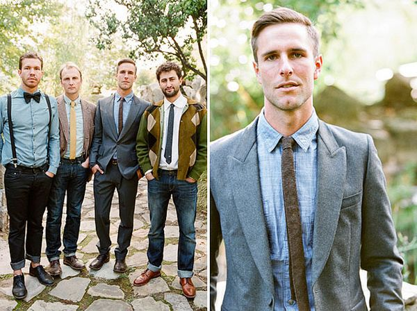 Mix Matched Dressed Up Casual Groomsmen Braedon Flynn Photography via Wedding Party App