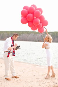 Red Balloon Valentines Day Love Session Along The Banks Of Tyler State...