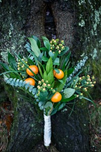 Rustic Glam Winter Wedding Infused With Oranges & Sprigs Of Evergreen