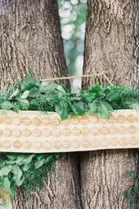 Why It Works Wednesday: Casual Chic Tree Mounted Escort Card Display