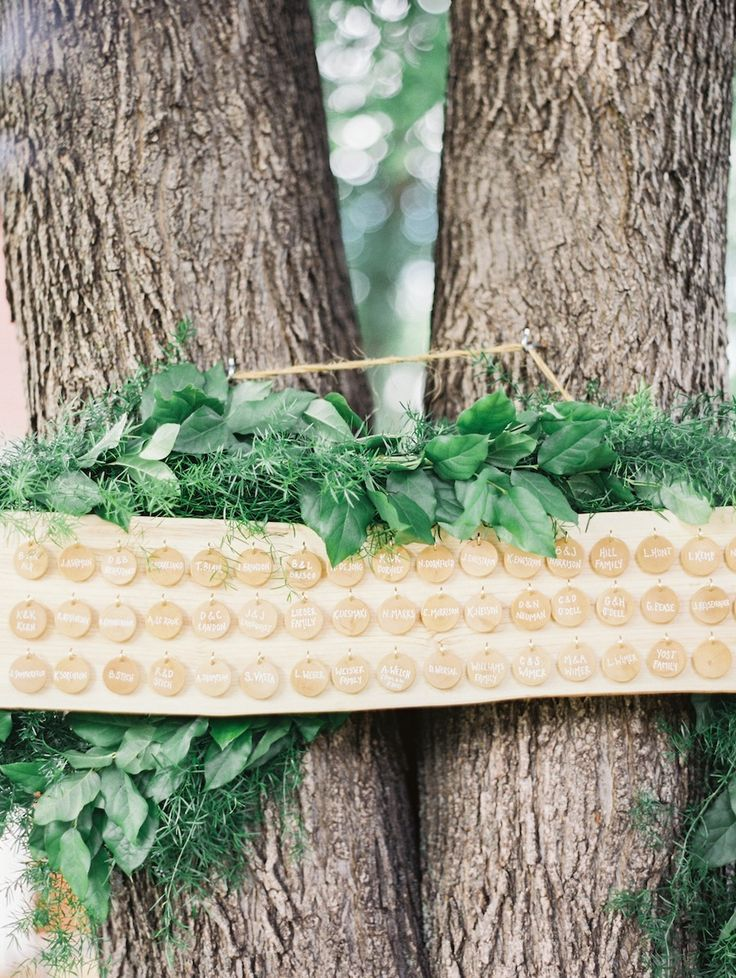 Tree Mounted Board Escort Cards via SMP Munster Rose Geneoh Photography