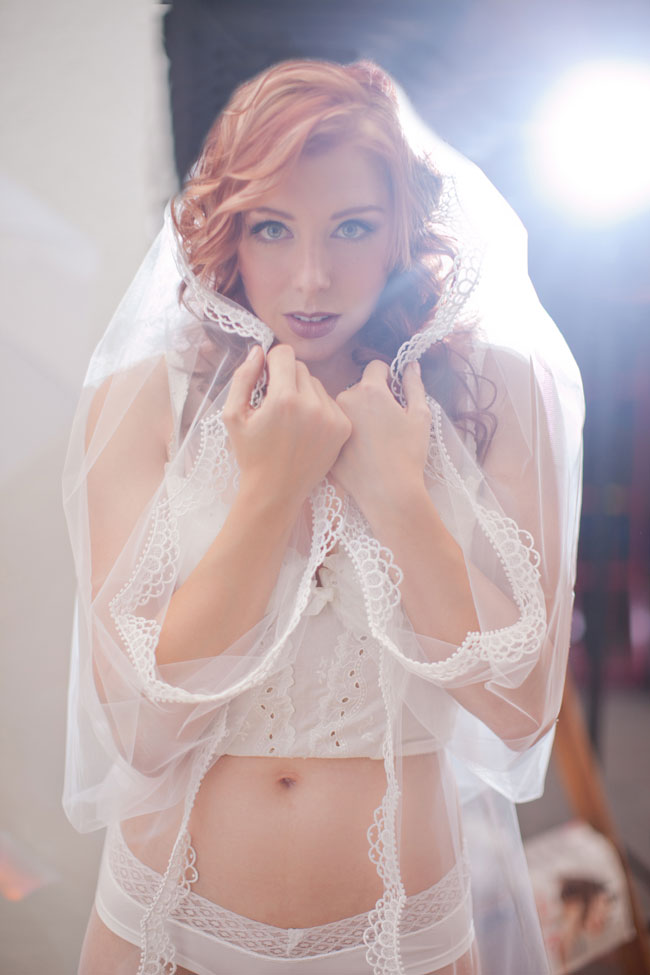White Wedding Adult Dress Up Boudoir | Photograph by KB Digital Designs  https://storyboardwedding.com/white-wedding-adult-dress-up-boudoir/