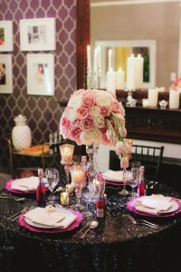 BFF Valentine's Day Ladies Glam Luncheon In Soft Pink, Fuchsia & Black | Photograph by Martina Micko Photo  http://storyboardwedding.com/bff-valentines-day-ladies-glam-luncheon-soft-pink-fuchsia-black/