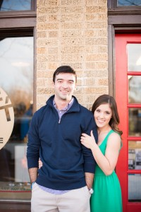 Downtown Dallas Bishop Arts District Neighborhood Engagement Session | Photograph by Cottonwood Road Photography