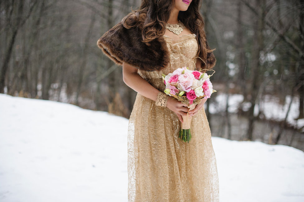 Storybook Snowy Glam Winter Wedding In An Enchanted Forest | Photograph by Rick+Anna Photography  https://storyboardwedding.com/storybook-snowy-glam-winter-wedding-enchanted-forest/