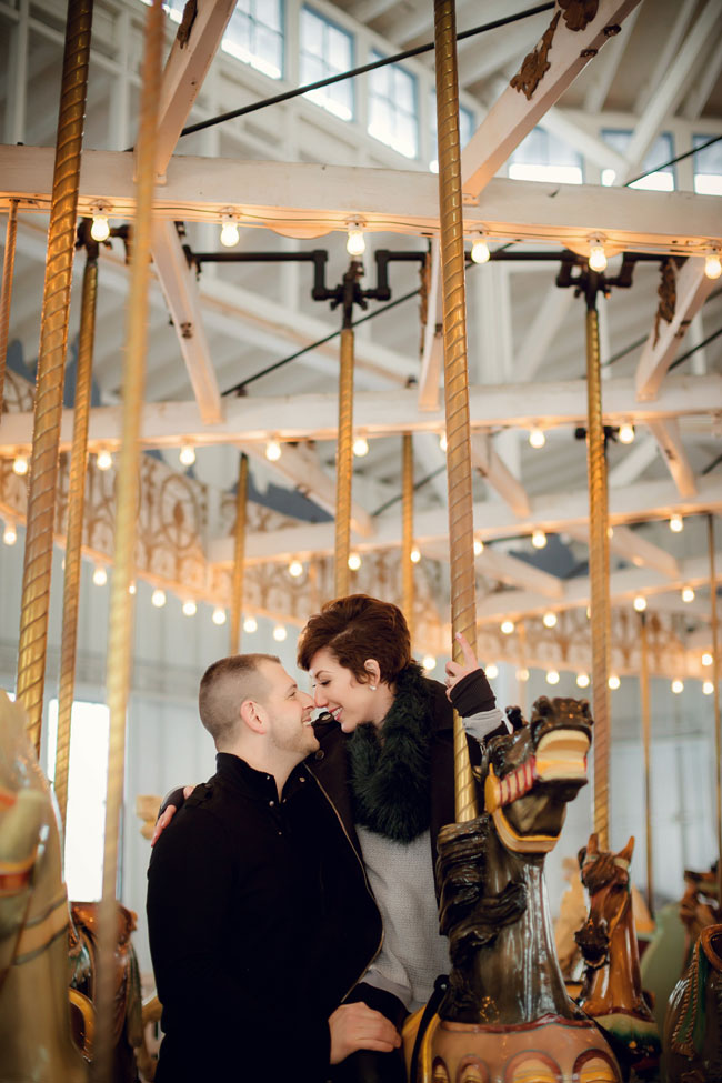 New Haven Connecticut Lighthouse Point Park Carousel Engagement Session | Photograph by Christina Corneau Photography   http://storyboardwedding.com/new-haven-connecticut-lighthouse-point-park-carousel-engagement-session/