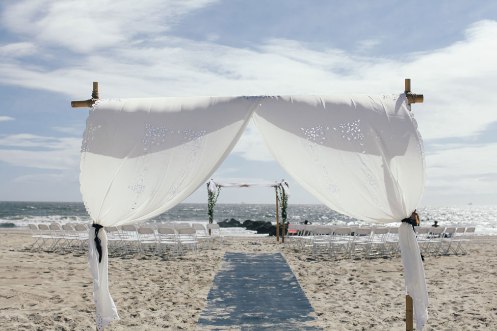 classic beach wedding navy yellow long beach new york