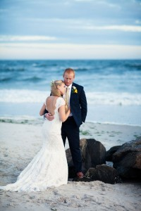 Classic Beach Wedding In Navy & Yellow Along The Shores Of Long Be...