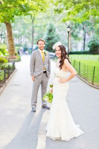 Art Pop Modern New York City Wedding In Shades Of Yellow