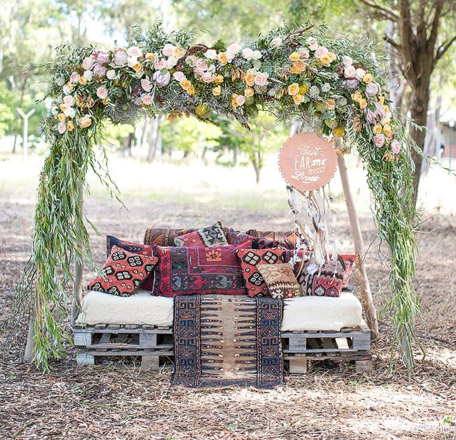 South Africian outdoor palette lounge area Adene Photography via Green Wedding Shoes