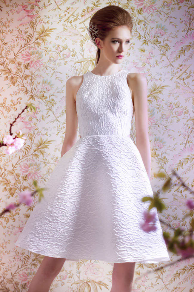 ANGEL SANCHEZ BRIDAL SPRING 2015 N110013-Front