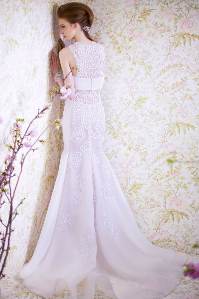 ANGEL SANCHEZ BRIDAL SPRING 2015 N11004-Back