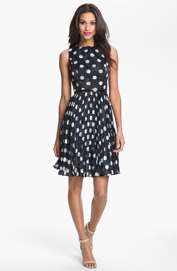 Black and White Polka Dot Bridesmaid Dress