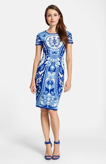 Bold Print Bridesmaid Dress