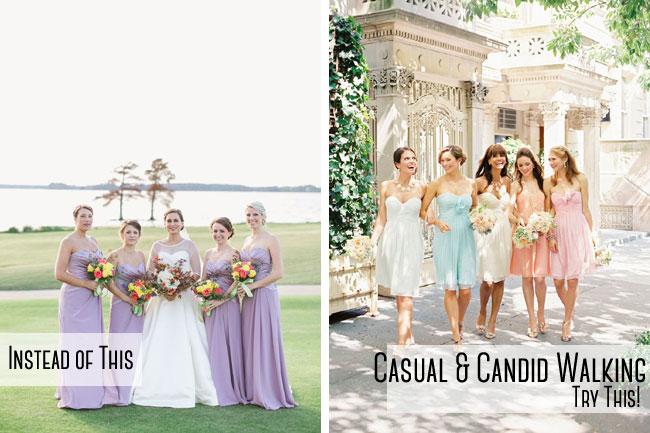Candid Bridal Party Shot