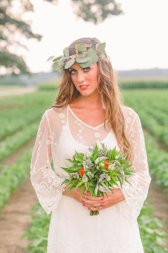Free Spirited Farmland Wedding With Gorgeous Blooms In Mixed Pink Hues | Photograph by Cortney Smith Photography  http://storyboardwedding.com/free-spirited-farmland-wedding-gorgeous-pink-blooms/