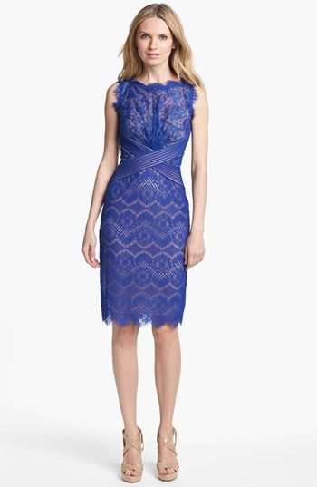 Electric Blue Lace Bridesmaid Dress