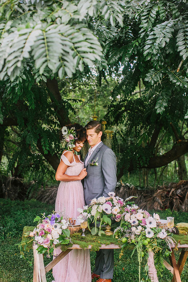 Whimsical Enchanted Forest Wedding Dream On Soft Beds Of Green | Photograph by What a Day! Photography  https://storyboardwedding.com/whimsical-enchanted-forest-wedding/